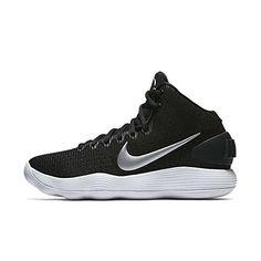 newest 4b1ae d5cc6 Nike Women s Hyperdunk 2017 TB Basketball Shoe Black Metallic Silver White  Size 9 M US