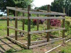 """Awesome tutorial for building a goat or mini donkey shelter I love plans that don't really require an exact """"recipe""""! I will make H in the front, sloping to H in the back, for our alpacas. I think I could do a lot of this on my own!"""