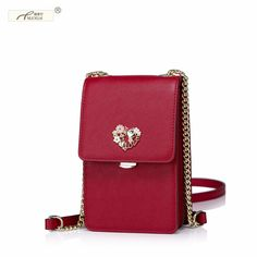 Cheap pouch purse, Buy Quality bag fashion directly from China bag size Suppliers: NUCELLE Brand New Design Fashion Heart Chains Cow Leather Women Ladies Shoulder Mini Girls Bags Coin Purse Cellphone Pouch Leather Chain, Leather Pouch, Cow Leather, Leather Purses, Leather Crossbody, Leather Bags, Cowhide Leather, Mini Crossbody Bag, Crossbody Shoulder Bag