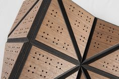 With these Mesh Sheets it is possible to create organic and flexuous shapes, out of any material. The special composite – two rigid layers with a textile core – allow to break into the third dimension with a wide variety of patterns and the possibility to join multiple sheets in order to create large high-end surfaces.    https://materia.nl/material/wood-skin/