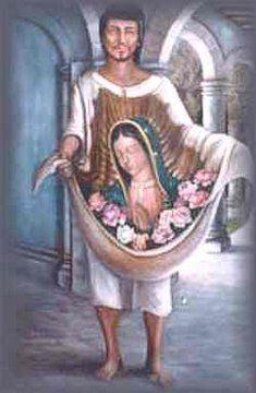 San Juan Diego y la Virgen de Guadalupe