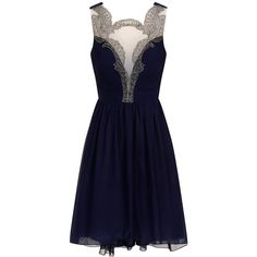 Little Mistress Baroque Front Prom Dress ($35) ❤ liked on Polyvore featuring dresses, vestidos, short dresses, blue, navy blue short dress, navy blue dress, mini dress and mini prom dresses