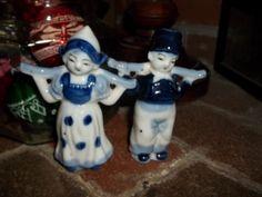 Vintage Porcelain Boy and Girl Figurines  by JunkyardElves on Etsy, $11.95