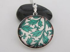 Green Leaves  Silver plated photo Locket by amajewelry on Etsy, $25.00