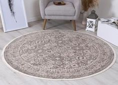 Istanbul Vintage Classic Aynur Beige Round Rug  Pile Height: 5mm Material: 65% Polypropylene,35% Polyester Rug Type: Indoor Easy to clean Style(s): Modern & Contemporary Pattern(s):Vintage, Modern