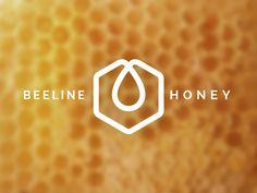 Honey Bee Logo, Branding, honeycomb