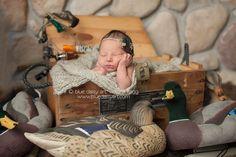 Hunting Newborn Photography Duck Calls Decoys  Springfield IL Newborn Photographer | Blue Daisy Art | Victoria Kegg » Newborn, maternity and birth photography in Springfield, IL