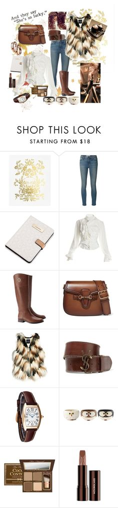 """Autumn outfit"" by b-a-hanen on Polyvore featuring Rifle Paper Co, Frame Denim, Calvin Klein, Vivienne Westwood, Tory Burch, Gucci, GUESS by Marciano, Yves Saint Laurent, Franck Muller and Hourglass Cosmetics"