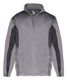 Badger Adult Drive Jacket B7703 Graphite/ Black