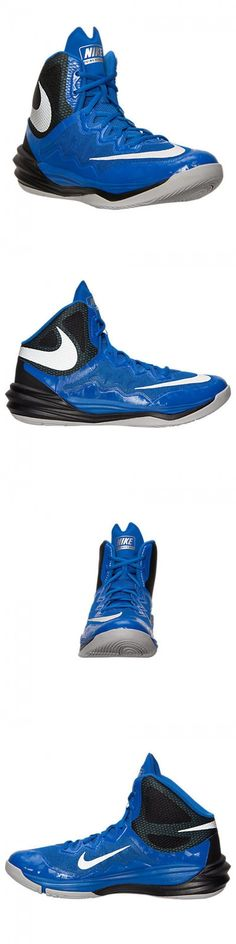 Basketball: Nike Prime Hype Df Ii Basketball Shoes Mens Sz 10 Blue Black  Silver 806941