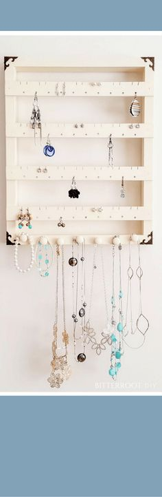 DIY Jewelry Organizer. Jewelry Display | Bitterroot DIY