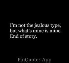 What is mine is mine
