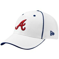 official photos 8b803 0bbee MLB New Era Atlanta Braves White Neo 39THIRTY Stretch Fit Hat by New Era.   24.95