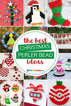These 20 great Christmas Perler bead ideas will keep the kids (and adults) happily crafting all holiday season! Beaded Christmas Decorations, Diy Christmas Ornaments, Handmade Christmas, Craft Activities For Kids, Christmas Activities, Christmas Projects, Christmas Ideas, Christmas Perler Beads, Christmas Coasters