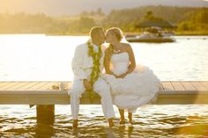 love the idea of a lake wedding
