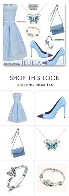 """Blue :)"" by angelstar92 ❤ liked on Polyvore featuring Yves Saint Laurent, HOBO, Blue, lovely, jewelry and jeulia"