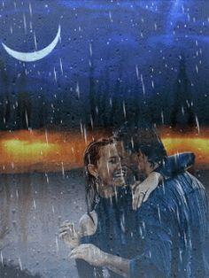 Love in the rain <3