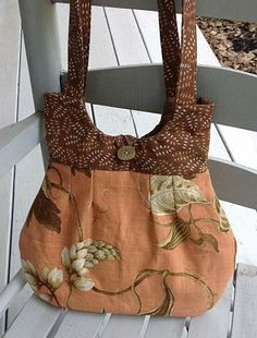 Purse or handbag, orange purse, floral purse, tote by OnceUponARoll for $39.00#zibbetflash