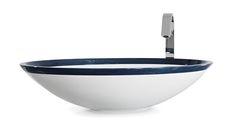 Design washbasin  Pairé with blue wooden ring