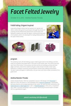Facet Felted Jewelry