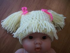 cabbage patch crochet hat pattern free   13 year Cabbage Patch Hat Photo Prop by collettakay on Etsy