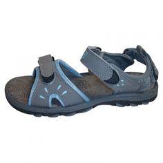 Coleman Women's River Sandals - Gray/Light Blue - Mills Fleet Farm