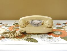 *SOLD*  WORKS Vintage Tan Rotary Phone Vintage by HipCatRetroVintage, https://www.etsy.com/listing/187606286/works-vintage-tan-rotary-phone-vintage?ref=shop_home_active_2