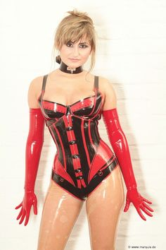 Wild Babe In Latex Lingerie And A Corset Fucking