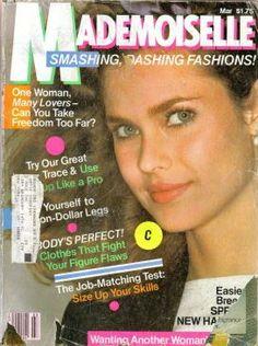 Carol Alt covers Madamoiselle Magazine