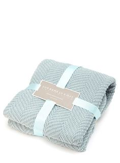 Supremely soft duck egg chevron throw with fringes - throws & bedspreads - Home, Lighting & Furniture