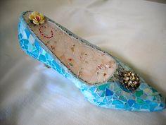 Cinderella Mosaic Shoe @ BeMineForever.etsy.com