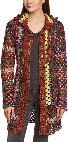 Khujo 1135KN151 - Jersey de punto, con manga larga para mujer, color mehrfarbig (dark indigo 989), talla 38: Amazon.es: Ropa y accesorios