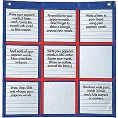 Carson-Dellosa Differentiated Choice Board Pocket Chart