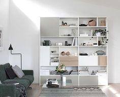 T.D.C: BoConcept Carlton sofa and Copenhagen wall system