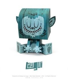My Billy Sweet Monster! | Designer: Guillaume Pain (aka TOUGUI) - http://www.tougui.fr/papertoy.html