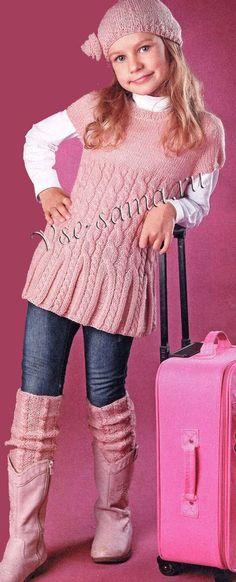 Knitting For Kids Knitting For Kids, Crochet For Kids, Baby Knitting Patterns, Knitting Designs, Knit Crochet, Cable Knitting, Free Knitting, Girls Sweaters, Baby Sweaters