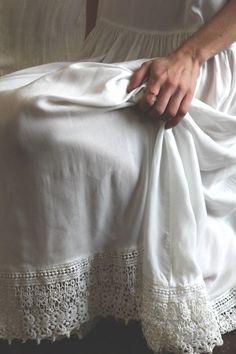 Full length petticoat, cotton.