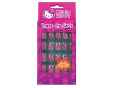 Hello Kitty 20 Glow In The Dark Press On Nails for Kids (Random Style) by Hello Kitty. $10.94. Hello Kitty Glow In The Dark Press On Nails for Kids. Style and Color May Vary. H 4-1/2?x L 1/2?x W 2-3/4?. 20 Nails. Hello Kitty Glow In The Dark Press On Nails for Kids