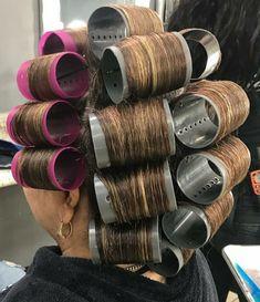 Vintage Glamour, Vintage Beauty, Hair Curlers Rollers, Wet Set, Full Makeup, Perm Rods, Bobe, Hair Setting, Roller Set