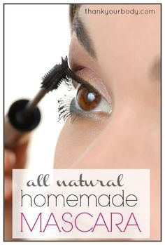Home made all natural mascara.... since I try to only wear mascara now, why not make it myself?