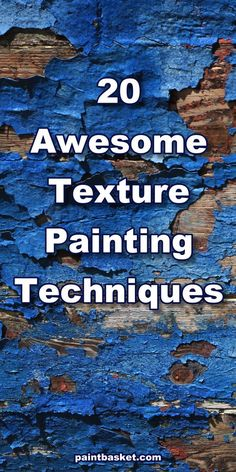 20 Texture Painting Techniques. Learn how to paint 20 texture paintings techniques in this online art challenge tutorial. You will learn all about actual and simulated texture and how to use all sorts… More