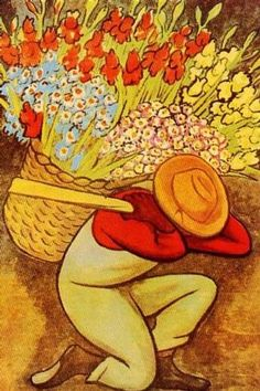 "Diego Rivera (1886-1957), ""El Vendedor de Flores"" [ ArtOfGolf.com ] #collection #art #golf"