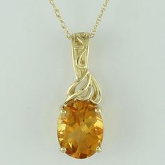 Citrine 2.18 Ct Genuine Pendant 10K Yellow Gold Awesome Occasion Wedding Jewelry #SGL #Pendant