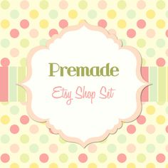 Everything Nice -- Premade Etsy Shop Banner and Avatar Set -- Yellow Pink Green Pastel