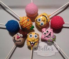 Spongebob & Friends Cake Pops - For all your cake decorating supplies, please visit craftcompany.co.uk
