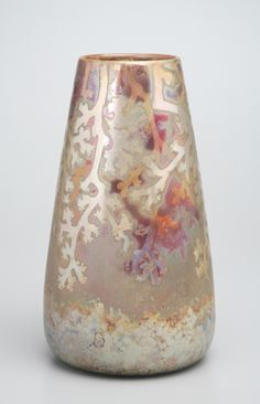Vase by Lucien Lévy-Dhurmer for Clément Massier, ca. 1888