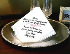 Mother of The Groom Hankie   Man of my Dreams  You by MisterandMrs, $22.95
