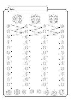 Kreslenie podľa čiar - Album používateľky - Foto 161 FREE Printable Winter Snowflakes Line Tracing Worksheets! Schede Didattiche sull'Inverno per la Scuola dell'Infanzia Preschool Writing, Preschool Curriculum, Kindergarten Worksheets, Motor Activities, Winter Activities, Preschool Activities, Line Tracing Worksheets, Tracing Sheets, Pre Writing