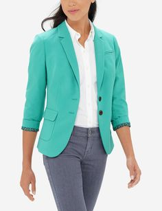 Colorful Flap Pocket Blazer | THE LIMITED