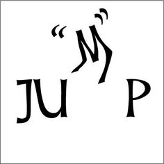 """Natalie Camacho: """"Jump"""" Reinforced Meaning Typography Study"""